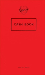Silvine Cash Book. Made in England.