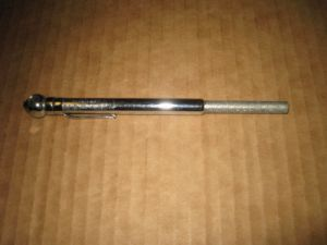 A vintage PCL tyre gauge No.1. 6-50 LBS. Made in England by Pneumatic Components LTD