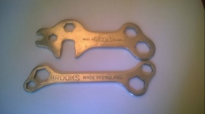 2 Vintage BROOKS Chrome Bike Spanners Made in England
