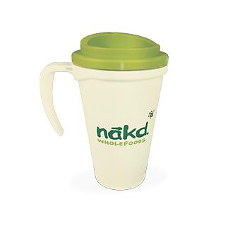 Nakd thermal travel mug. Made in the UK