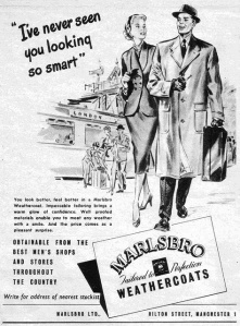 An advert for Marlsbro from 23rd April 1955.