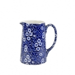 Burleigh Blue Calico Tankard Jug (mini). Made in England.
