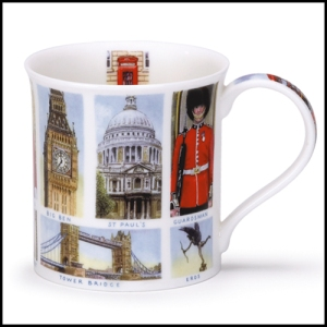 Dunoon mugs London Landmarks mug. Made in England.