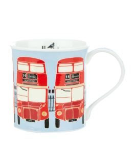 Harrods Red Bus Mug. Made in England.