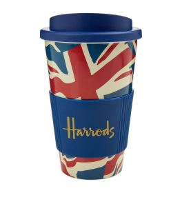 Harrods Crowning Glory Thermal Travel Mug. Made in the UK.