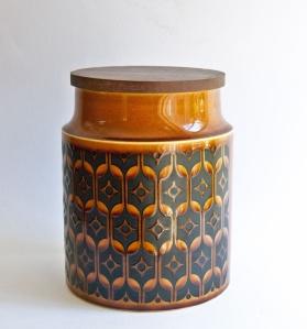 A vintage Hornsea Canister (biscuit barrel).
