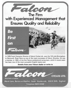 Be First on a Falcon, a 1950s adevrtisement for Falcon Cycles