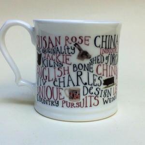 A Susan Rose china mug. Made in England.