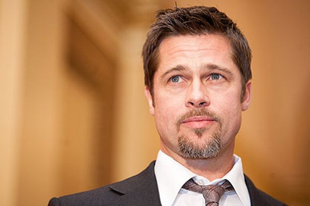 Brad Pitt with his goatee (March 2009)