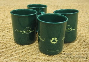 "Bell Tent UK ""camping with soul"" recycled mugs. Made in the UK."