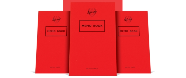 Silvine Classic Memo Book. British made. Quality lined paper. Quality red jacket. Pocket sized. Lightweight. Ref 042F. 10 x 16 x 0.5cm.
