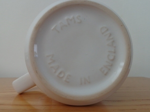 "Look for the words ""made in England"" on the bottom of a mug."