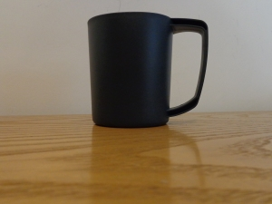 LifeVenture plastic Ellipse mug in grey. Made in the UK for Lifemarque Ltd. BPA Free. Lightweight and just the right size.