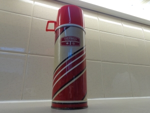 A vintage made in England Thermos flask.