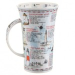 BRITAIN'S LIGHTHOUSES GLENCOE SHAPE MUG by Dunoon.