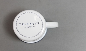 Trickett enamel mug. Made in England.