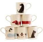 Fenella Smith Dogs Mug Set. Made in England