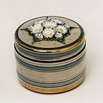 Small decorated box by Kentmere Pottery.