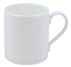 Hudson and Middleton Pure White - Jubilee Shape mug. Made in England.