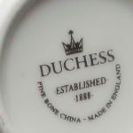 Duchess Amber saucer backstamp, 23.2.13 - made in England