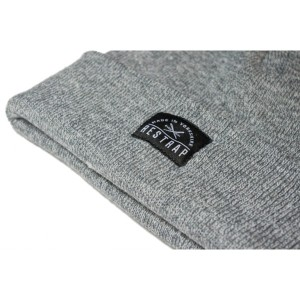 "100% acrylic Restrap grey beanie hat. NOT ""made in Yorkshire"" despite the big label that says it is! Restrap beanies are foreign made."