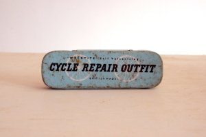 Vintage Weldtite cycle repair kit tin.  British made.