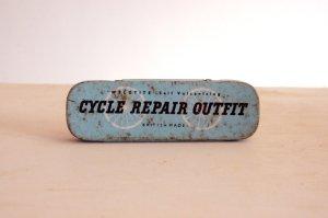 Vintage Weldtite cycle repair kit tin. British made.