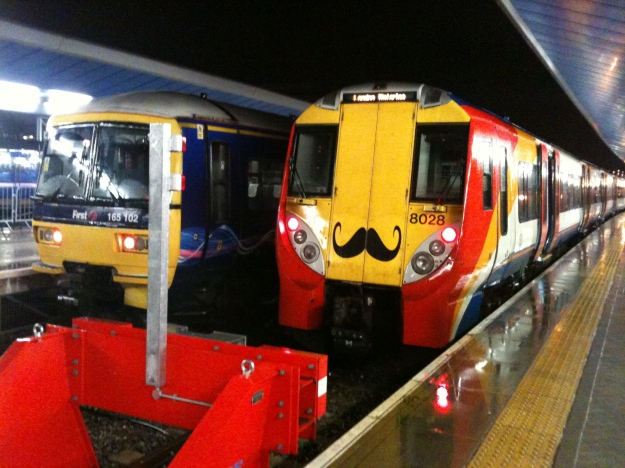 A moustachioed train at Reading station 21.12.13
