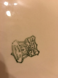 Newhall chamber pot, made c.1930-51 underside view showing the maker's mark.