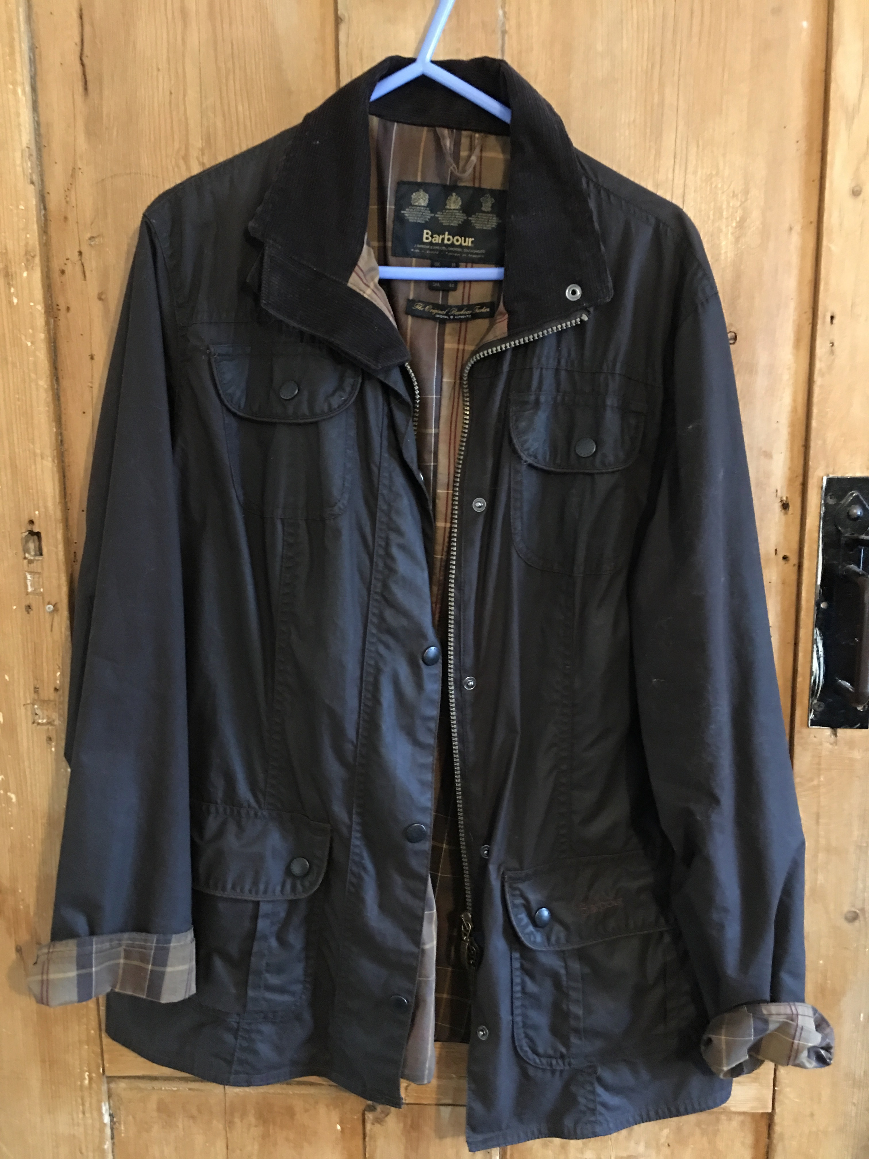 fcfe7b221f Vintage Barbour L2272 Flyweight Wax Utility UK size 14, brown, made in  England.