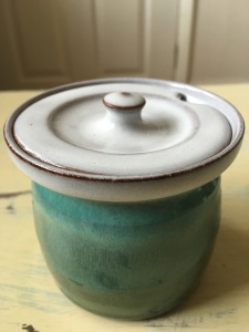 Woburn Pottery sugar bowl. Made in England.