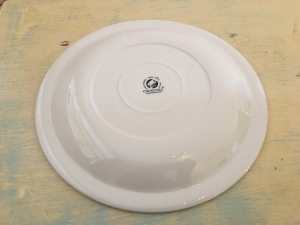 Churchill Super Vitrified dinner plate. Made in England. Underside stamp view. Photograph by author.