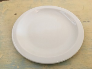 Churchill Super Vitrified dinner plate. Made in England. Photograph by author.