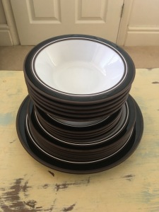 Vintage Hornsea Contrast Oven Tableware plates and dishes.
