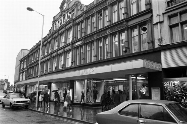 Heelas, Reading in 1975. The store now trades under the name John Lewis.