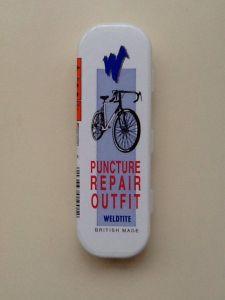 Vintage Weldtite cycle repair kit. British made.