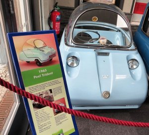 1965 Peel Trident Bubble car at the Lakeland Motor Museum in summer 2014