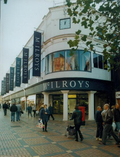 Swindon's Regent Street department store McIlroys sometime before it closed in 1998.