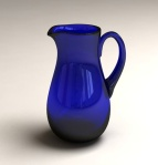 Medium Pitcher Jug by Bristol Blue Glass South West. Made in England