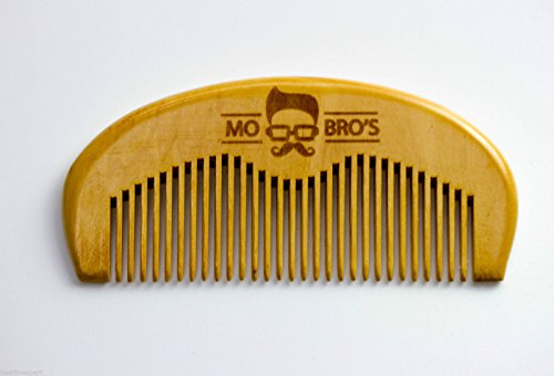 Mo Bro's – Wooden Grooming Beard Comb – Made in England (front view).
