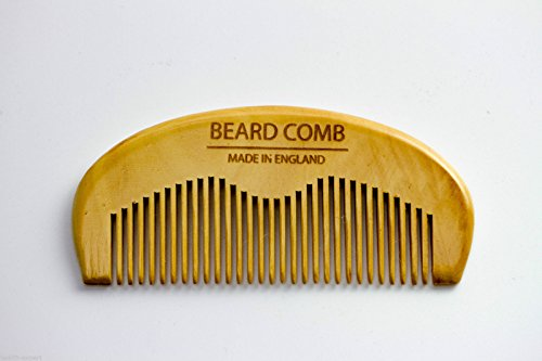 Mo Bro's – Wooden Grooming Beard Comb – Made in England (rear view).