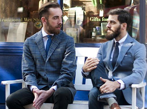 "Two gentlemen with beards. From the Tweed Pig article ""Murdock London - Demon Barbers of London"""