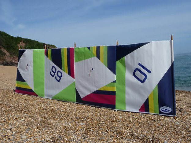 Dart Designs Porthcurno Sailcloth Windbreak & Bag. Made in the UK.