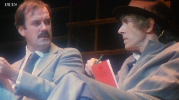 Peter Cook in the 1950s, with John Cleese, using a Silvine Notebook. Still made in Britain today.