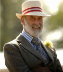 Prince Michael of Kent wearing a panama hat.