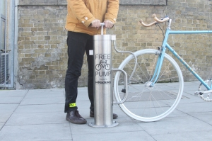 Cyclehoop public bike pump. Made in Britain.
