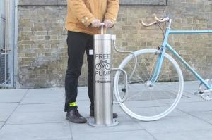 Cyclehoop public bike pump. Made in Britain.
