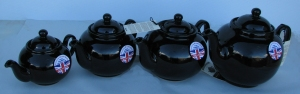 Cauldon Ceramics Brown Betty teapots. Made in England.