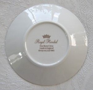 Royal Kendal small dish. Back stamp view