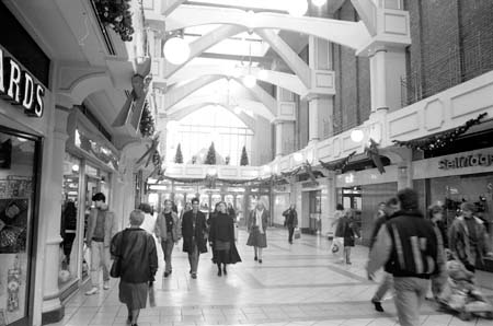 Selfridges (Oxford) Ltd from inside the Westgate Christmas time 1988